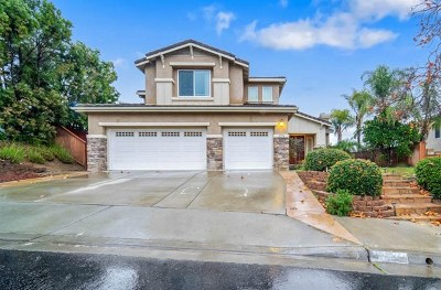 El Cajon Single Family Home For Sale: 1758 Lawndale Rd