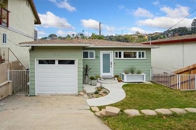 San Diego Single Family Home For Sale: 3542 Wawona Dr