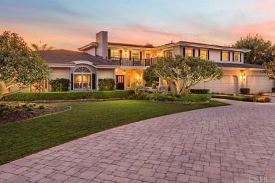 Fairbanks Ranch Single Family Home For Sale: 6155 Avenida Cuatro Vientos, Lot 349