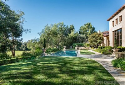 Rancho Santa Fe Single Family Home For Sale: 18330 Calle La Serra