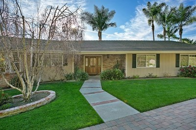 Fallbrook Single Family Home For Sale: 1455 Via Vista