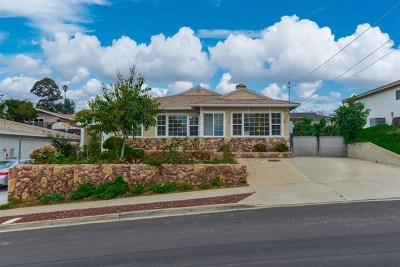 La Mesa Single Family Home For Sale: 8490 Midland Street