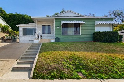 San Diego Single Family Home For Sale: 1903 Parrot St