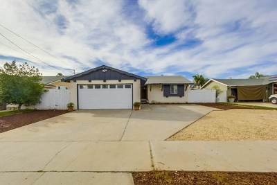El Cajon Single Family Home For Sale: 652 Dorothy St