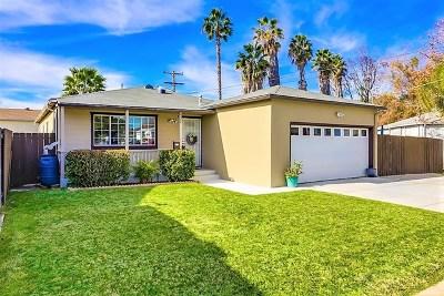 El Cajon Single Family Home For Sale: 802 Lura Ave