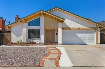 San Diego Single Family Home For Sale: 8252 Santa Arminta Ave