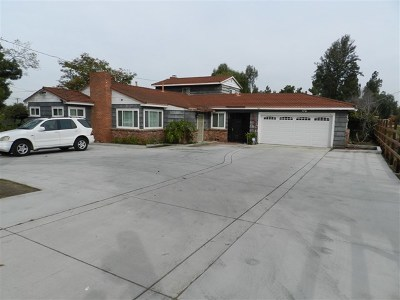 Lemon Grove Single Family Home For Sale: 7880 Mount Vernon St