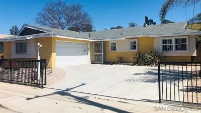 Lemon Grove Single Family Home For Sale: 1615 San Altos