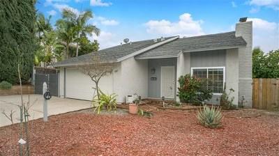 El Cajon Single Family Home For Sale: 13917 Hawick Dr