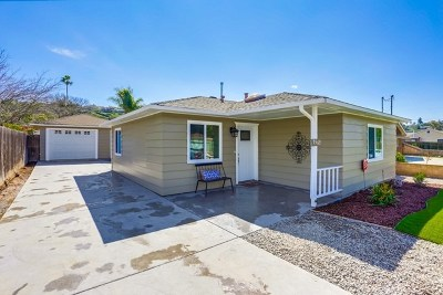 La Mesa Single Family Home For Sale: 7569 Normal Ave