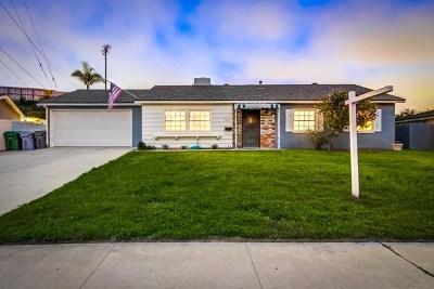 El Cajon Single Family Home For Sale: 107 Thrasher Wy