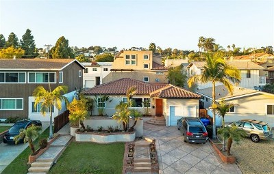 San Diego Single Family Home For Sale: 1814 Diamond St
