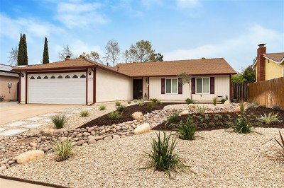 Poway Single Family Home For Sale: 14015 Olive Meadows Pl