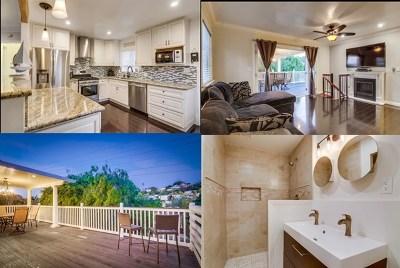 San Diego Single Family Home For Sale: 3560 Wawona Dr