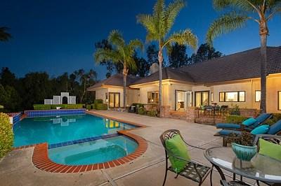 Rancho Santa Fe Single Family Home For Sale: 17329 Avenida Peregrina