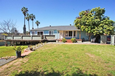 La Mesa Single Family Home For Sale: 9145 Dillon Drive