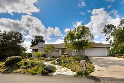 Fallbrook Single Family Home For Sale: 3231 Los Verdes Dr