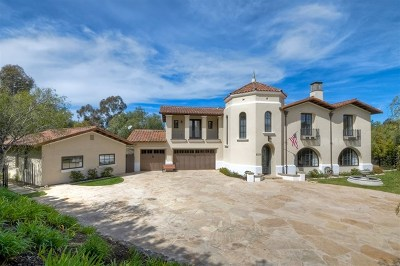 Rancho Santa Fe Single Family Home For Sale: 7717 La Orquidia