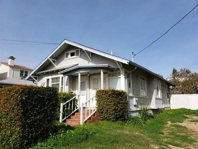 San Diego Single Family Home For Sale: 1976 Diamond St