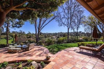 Rancho Santa Fe Single Family Home For Sale: 5557 San Elijo