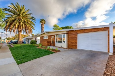 San Diego Single Family Home For Sale: 4721 Ramsay Avenue
