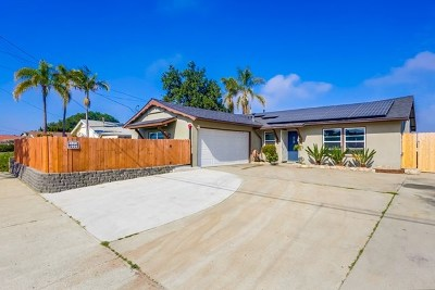 Lemon Grove Single Family Home Active Under Contract: 1614 Watwood Rd