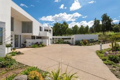 Rancho Santa Fe Single Family Home For Sale: 18486 Lago Vista