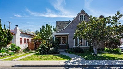 San Diego Single Family Home For Sale: 3461 Olive St.