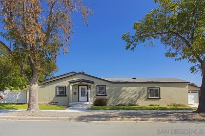 San Diego Single Family Home For Sale: 4821 Winona