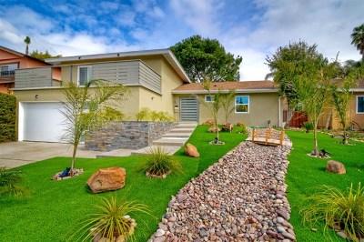 La Mesa Single Family Home For Sale: 6145 Haas St