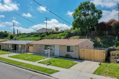 San Diego Single Family Home For Sale: 402 Billow Dr