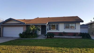 Lemon Grove Single Family Home For Sale: 7109 Rosemary Lane