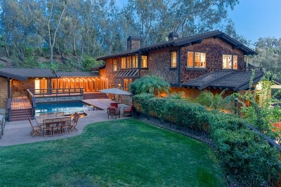 Rancho Santa Fe Single Family Home For Sale: 15779 El Camino Real