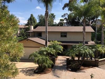 La Mesa Single Family Home For Sale: 9240 Bramble Rd