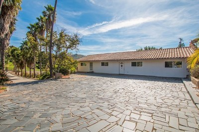 Escondido Single Family Home For Sale: 1763 Cloverdale Rd