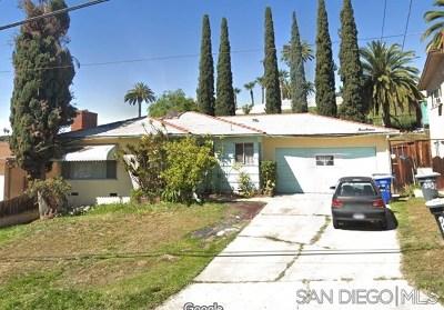 Lemon Grove Single Family Home Active Under Contract: 2458 Buena Vista Ave