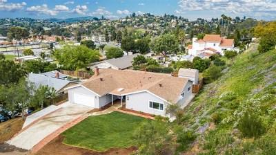 La Mesa Single Family Home For Sale: 10942 Fury Ln