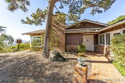 La Mesa Single Family Home For Sale: 4816 Mt. Helix Drive