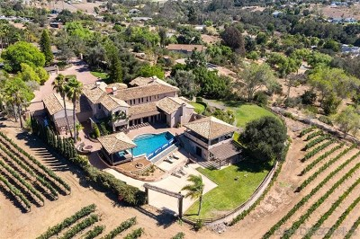 Fallbrook Single Family Home For Sale: 4567 Sleeping Indian Rd