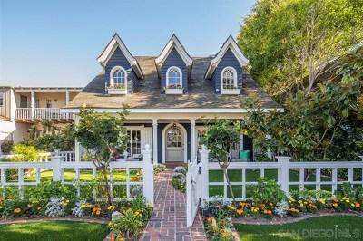 Coronado Single Family Home For Sale: 1021 Olive Avenue