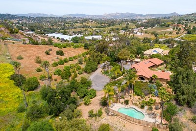 Escondido Single Family Home For Sale: 2453 San Pasqual Valley Road