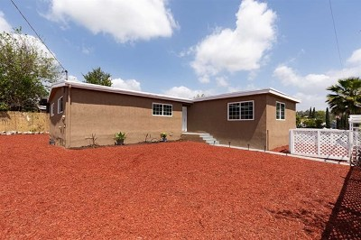 Spring Valley Single Family Home For Sale: 9205 Piedmont St