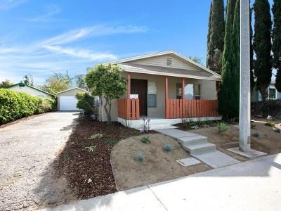 El Cajon Single Family Home For Sale: 531 Avocado Ave