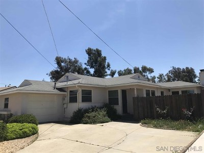 La Mesa Single Family Home For Sale: 6110 Blain Pl
