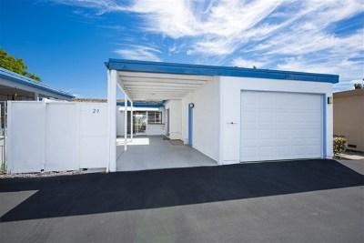 Oceanside Single Family Home For Sale: 3839 Vista Campana S #29