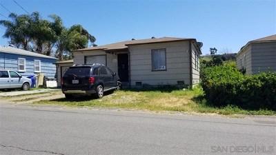 Lemon Grove Single Family Home For Sale: 1815 Ensenada St.