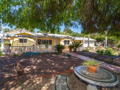 Fallbrook Single Family Home For Sale: 3338 Sunset Dr