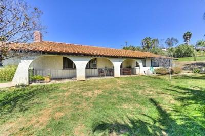 Vista Single Family Home For Sale: 2476 El Corto Dr