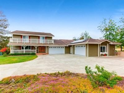 Fallbrook Single Family Home For Sale: 1184 Capra Way
