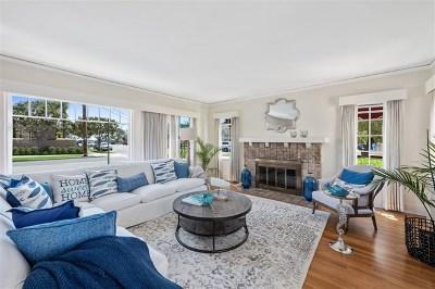 Coronado Single Family Home For Sale: 1231 Alameda